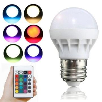Kolorowa Żarówka RGB LED