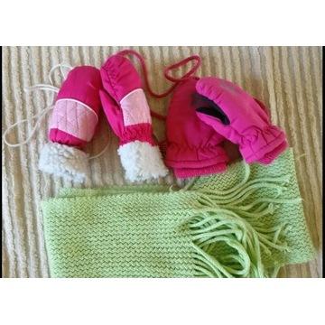 2 x Rękawiczki dla dziewczynki 1 rok + gratis