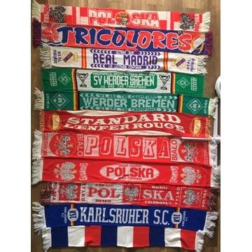 Zestaw szalików piłkarskich