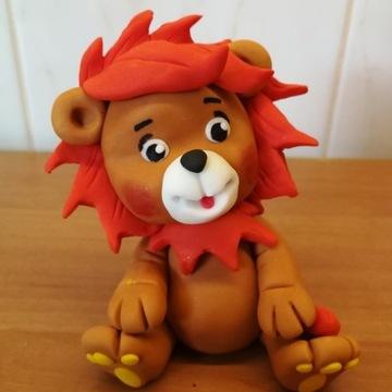 Lew figurka na tort z masy cukrowej dekorację