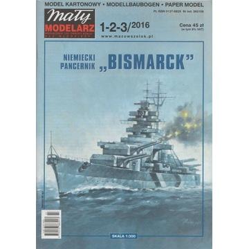 Pancernik Bismarck  Mały Modelarz 2016/1-2-3