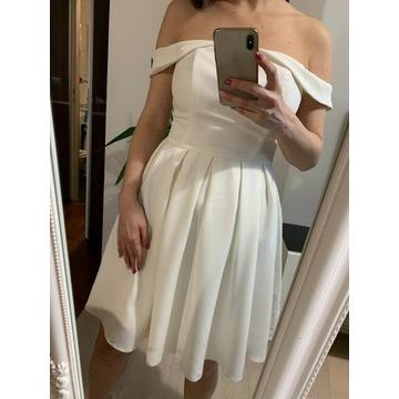 Nowa Sukienka Sugarfree Kremowa 38 Wesele Komunia