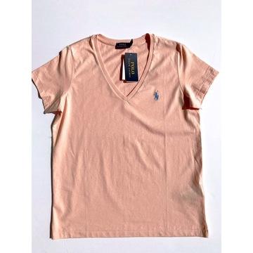 T-shirt koszulka Ralph Lauren łososiowa M NOWA