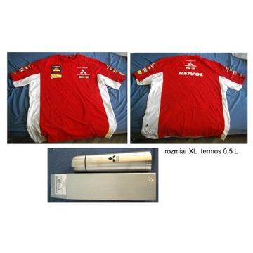 Koszulka Firmowa Mitsubishi Repsol + termos