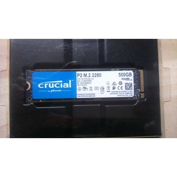 SSD Crucial P2 500GB M.2 NVMe PCIe Gen3x4 2280