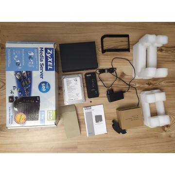 Zyxel NSA 310 domowy serwer nas zadbany + dysk