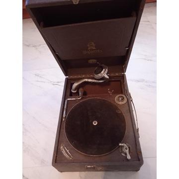 Patefon Gramofon walizkowy firmy Odeon