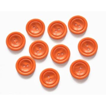 Guziki pomarańczowy, 23mm, 10szt
