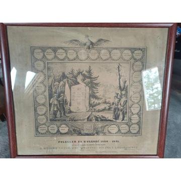 Grafika Poległym za Wolność 1830-1831