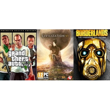 GTA V PREMIUM CIVILIZATION VI BORDERLANDS DLC