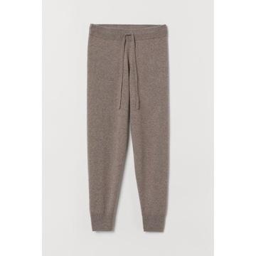 Spodnie dresy joggery kaszmirowe H&M PREMIUM 38 M