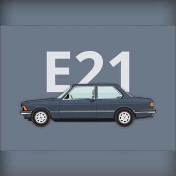 Plakat BMW 3 (E21) 50x70cm klasyk prezent