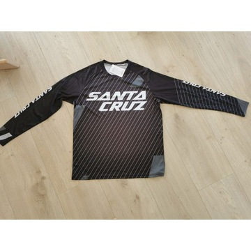 bluza longsleve MTB ENDURO DH napis Santa Cruz