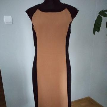 Reserved - elegancka sukienka ze stebnowaniem - 44