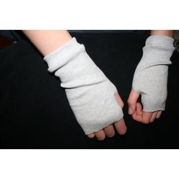 kolorowe rękawiczki mitenki b.palców dziani prążek