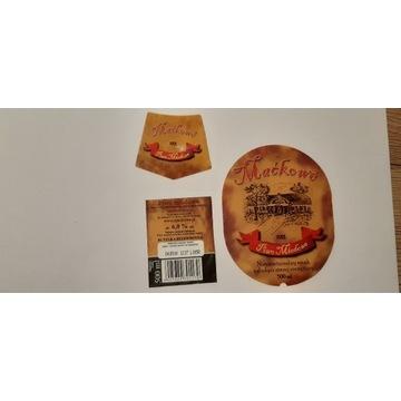 Etykieta Maćkowe miodowe 2014 rok