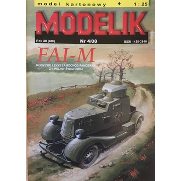 Samochód Pancerny FAI-M Modelik 4/08