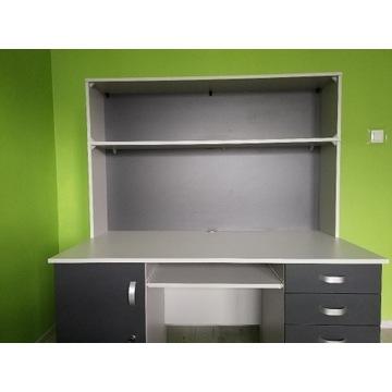 Duże (140 cm) nowoczesne biurko, jak nowe