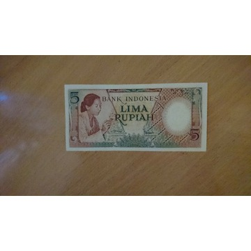 Indonezja 5 rupii
