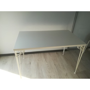 Biurko białe styl retro 110cm. x 65cm. wys. 73cm.