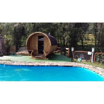 Sauna ogrodowa bania beczka fińska S3