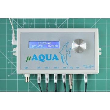 Sterownik Akwarystyczny uAQUA LED,pH,temp,wentyl