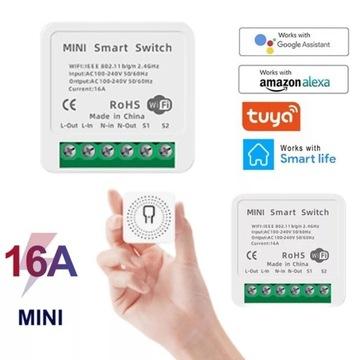 Mini Sterownik do puszkowy Wifi Tuya 16A
