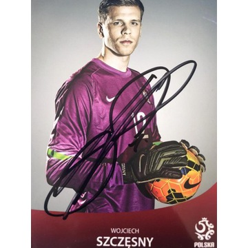 Autograf Wojciecha Szczesnego