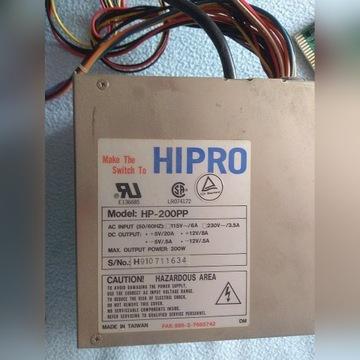 Zasilacz AT HP-200PP Firmy HIPRO sprawny