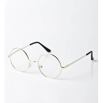 Okulary zerówki, złote lennonki