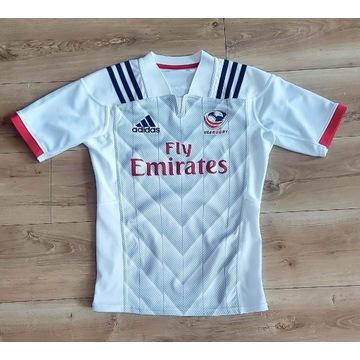 UNIKAT Koszulka USA Rugby Adidas 2018 IDEAŁ roz. S