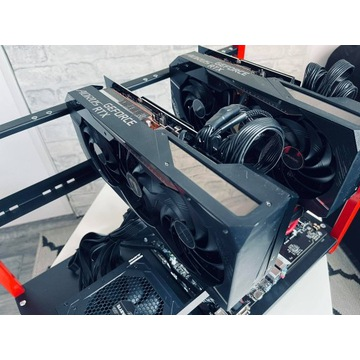 Koparka Kryptowalut 6x RX 6800 XT BTC RVN + MINE24