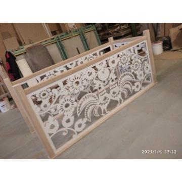 balustrada ażurowa , wycinanka łowicka