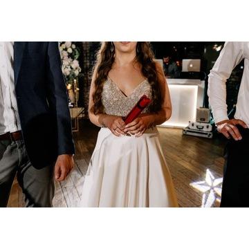 Justin Aleksander suknia ślubna kolor ivory z 2021