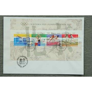 FDC Blok 210 (4218-21) UNIKAT Olimpiada Pekin