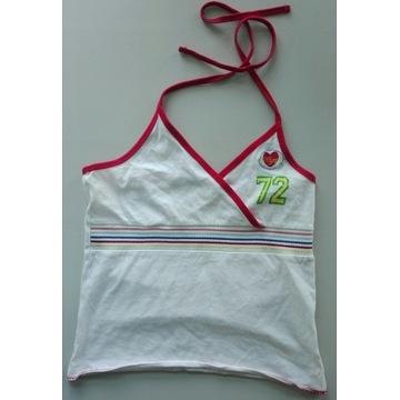 Sportowy biały top koszulka na lato r.158 New look