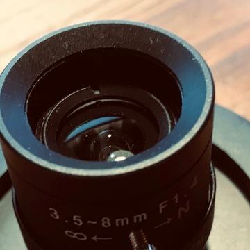 Zestaw obiektywów cctv wraz z mocowaniem Canon Eos