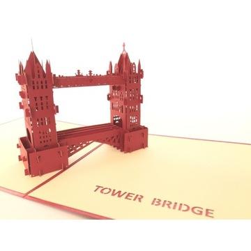Kartki 3D pop up Tower Bridge - Londyn Anglia UK