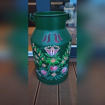 Kanka dekoracyjna z uchwytem, ręcznie malowana