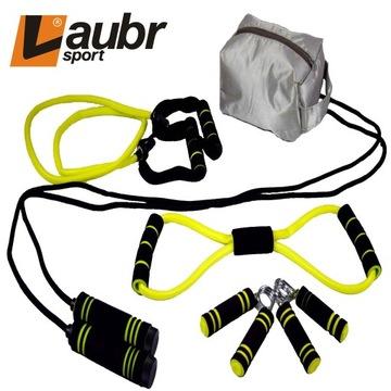 Zestaw fitness ćwiczeń siłownię 4w1 Laubr