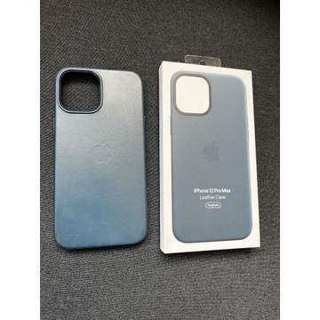 Apple iPhone 12 Pro Max etui leather case blue