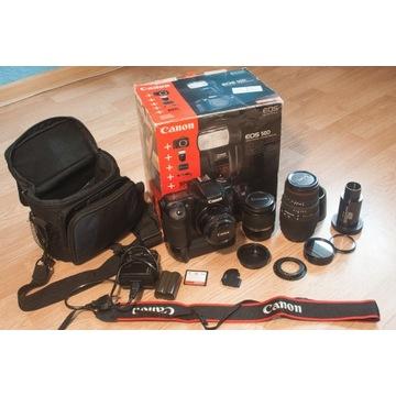 Canon 50D z trzema obiektywami i akcesoriami