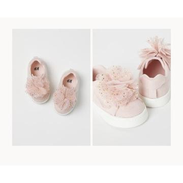 Buty sportowe H&M r. 22 różowe na rzepy