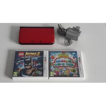 NINTENDO 3DS XL + 2 GRY + ŁADOWARKA
