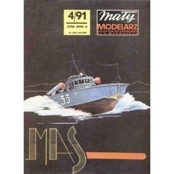 Mały Modelarz 1991 91 Włoski kutert MAS