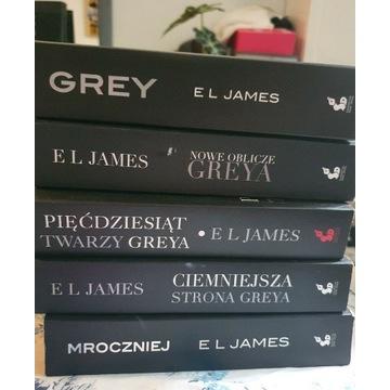 Grey cały cykl wszystkie 5 książek E L James