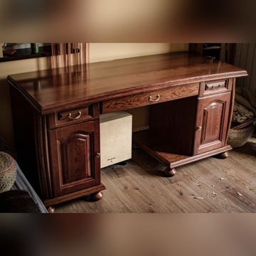 Solidne drewniane / dębowe biurko - Kraków