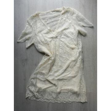 Koronkowa sukienka z podszewką Zara S