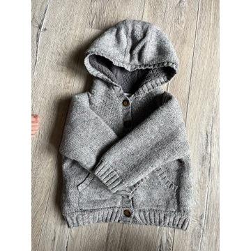 Jesienny ciepły przejściowy gruby sweterek 80