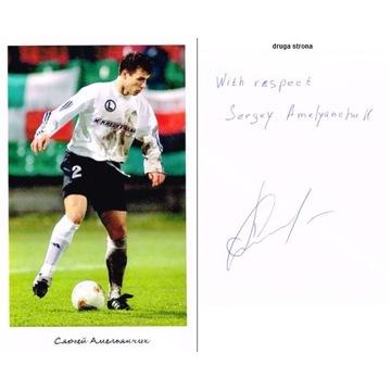 Legia Warszawa Sergiej Omeljanczuk autograf
